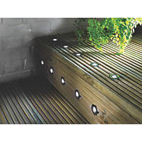 LAP Apollo LED Deck Light Kit Polished Stainless Steel White 0.05W 10 Pack