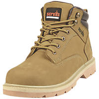Scruffs Verona   Safety Boots Tan Size 7