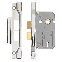 Eurospec 2 Lever Nickel plate Rebated Sashlock 64mm Case - 44mm Backset