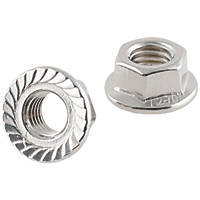 Easyfix A2 Stainless Steel Flange Head Nuts M12 50 Pack