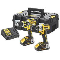 DeWalt DCK2510L2T-GB 18V 3Ah Li-Ion XR Brushless Cordless Combi Drill & Impact Driver Twin Pack