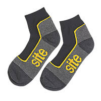 Site  Trainer Socks Black / Grey Size 7-11 3 Pairs