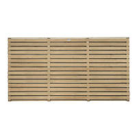 Forest  Double-Slatted  Fence Panel 6 x 3' Pack of 5