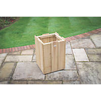 Forest Square Windsor Planter Natural timber 447 x 414 x 620mm