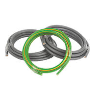 Prysmian 6181Y & 6491X Grey & Green/Yellow 1-Core 16mm² Meter Tails Cable 3m Coil