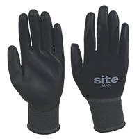 Site Max PU-Coated Gloves Black Large