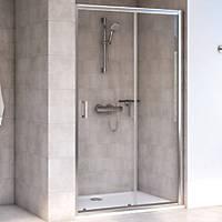 Aqualux Edge 6 Sliding Shower Door Polished Silver 1600 x 1900mm