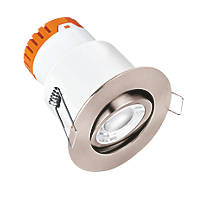 Enlite E8 Adjustable  Fire Rated LED Downlight Satin Nickel 640lm 8W 220-240V
