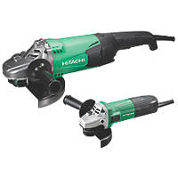 Hitachi G12STX / G23ST  Electric Angle Grinder Twin Pack  230V