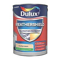 Dulux Weathershield Smooth Masonry Paint County Cream 5Ltr