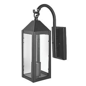 60w matt black holt lantern wall light outdoor wall. Black Bedroom Furniture Sets. Home Design Ideas