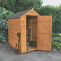 Forest 4' x 6' (Nominal) Apex Overlap Timber Shed with Base