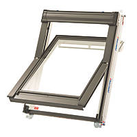 Keylite  T06 Manual Centre-Pivot White Painted Timber Roof Window Clear 780 x 1400mm