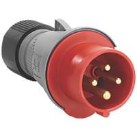 ABB 16A Straight Plug 2P+E 380-415V
