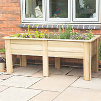 Forest Rectangular Garden Planter Natural Timber 1800 x 700 x 700mm