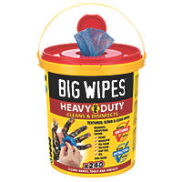 Big Wipes Scrub & Clean Wipes Blue 240 Pack
