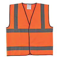 "Hi-Vis Waistcoat Orange Large 50"" Chest"
