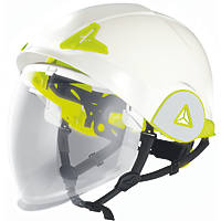 Delta Plus ONYX Arc Flash Helmet with Retractable Visor White