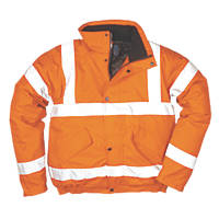 "Portwest  Hi-Vis Bomber Jacket Orange Large 42-44"" Chest"