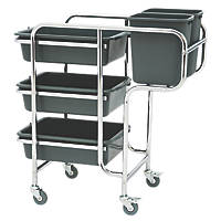 Grey 3-Shelf Collector Trolley