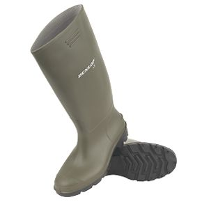 17388676a5e Dunlop Non Safety Footwear Pricemaster Non Safety Wellingtons Green Size 8