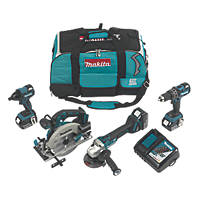 Makita DLX4089TX1 18V 5.0Ah Li-Ion LXT Brushless Cordless 4-Piece Power Tool Kit
