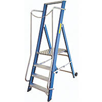 Lyte Fibreglass & Aluminium Platform Step Ladder 4 Treads 1.84m