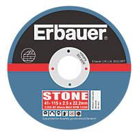 """Erbauer Cutting Discs 4½"""" (115mm) x 2.5 x 22.23mm 5 Pack"""