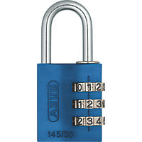 Abus Aluminium MyCode Light Combination Padlock Blue 30mm