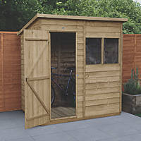 Forest  6' x 4' (Nominal) Pent Overlap Timber Shed with Base