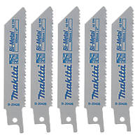 Makita B-20426 Reciprocating Saw Blades 100mm 5 Pack