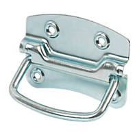 Chest Handles 105mm Polished Silver 2 Pack