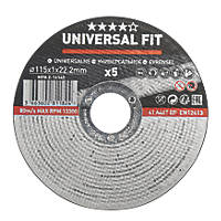 "Metal Metal Cutting Disc 4½"" (115mm) x 1 x 22.2mm 5 Pack"