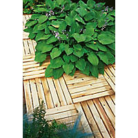 Forest Ridged Tile Decking Kit  x 0.5 x 0.5m 4 Pack