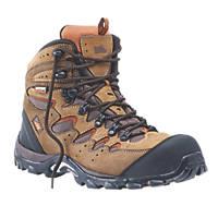 Hyena Eiger   Safety Boots Brown Size 8