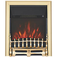 Focal Point Blenheim Brass Remote Control Freestanding, Semi-Recessed or Fully Inset Electric Fire