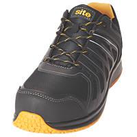 Site Edenite   Safety Trainers Black & Grey Size 7