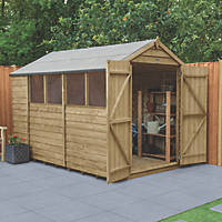 Forest  6' x 10' (Nominal) Apex Overlap Timber Shed with Assembly