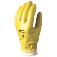 Skytec Neon Xtra Fully-Coated Nitrile Gloves Yellow Medium