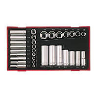 Teng Tools TTAF32 Mixed Socket Set 32 Pieces