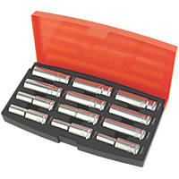 "Bahco  1/2"" Drive Deep Socket Set 12 Pieces"