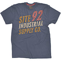 """Site Industrial T-Shirt Blue Large 42-44"""" Chest"""