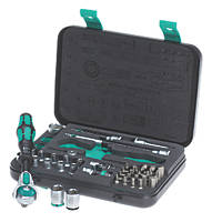 "Wera Zyklop 1/4"" Drive 5-in-1 Ratchet, Socket & Bit Set 42 Pieces"