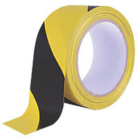 Diall Marking Tape Black / Yellow 33m x 50mm