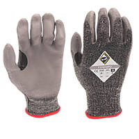 Tilsatec 50-5111 Cut 5/E PU Gloves Grey / Black X Large