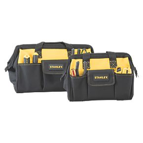 stanley soft tool bag twin pack 12 16 tool bags. Black Bedroom Furniture Sets. Home Design Ideas