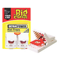 STV Pest Free Plastic & Metal Rat Traps 2 Pack