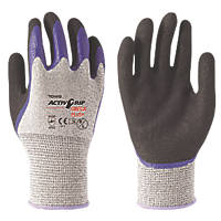 Towa ActivGrip Omega Plus Cut-Resistant Gloves Black / Grey Large
