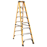 DeWalt Fibreglass 8-Treads Swingback Stepladder 2.44m