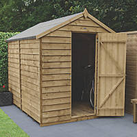 Forest  6' x 8' (Nominal) Apex Overlap Timber Shed with Assembly